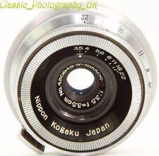 Nippon Kogaku Japan W-Nikkor C 1:3.5 f=3.5cm NIKON S Contax Rangefinder fit Lens