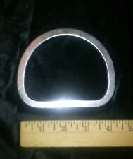 """Large Solid Nickle Plated D Ring 3-3/4"""" Tandy Leather"""