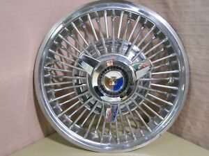 "1963-64 Ford Galaxie 500 XL Spinner Wire Wheel Cover 14"" Hub Cap Hubcap"