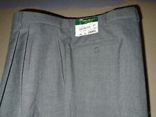 Palm Beach Medium Gray Career Dress Pant Pleated Front 50W Long  NWT
