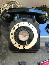 Vintage Retro 1960s/70s Black phone with Cream Dial Telephone