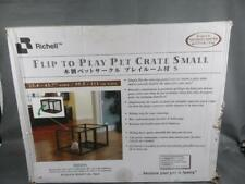 Richell Flip To Play Pet Crate Small For Dogs up to 17.6 Lb !