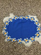 """Placemats Lot of 4 Oval Fabric Knit Edge Home Decoration Sz 12""""x16"""""""