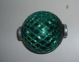 NOS Green Merc Flat Quilt Thompson Lightning Rod Ball