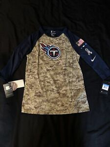 NWT! TENNESSEE TITANS SALUTE TO SERVICE NIKE 3/4 SLEEVE YOUTH MEDIUM SHIRT