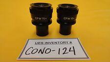 Nikon CFW 10x Mircroscope Eyepiece Set Used Working