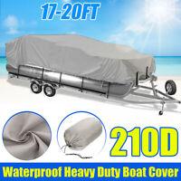 17-20ft Trailerable Pontoon Fishing Boat Cover Heavy Duty 210D Waterproof