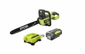 """Ryobi RY40580 18"""" 40V HP Chainsaw Kit with Case Battery & Charger"""