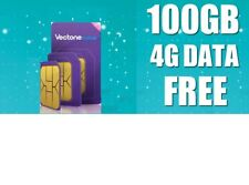 Vectone EE 100GB Data Sim card for Dongles iPad Tablet Mobiles - Fits any Device