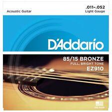 D 'Addario EZ910 cuerdas para guitarra acústica de bronce americano-Light - 11-52