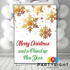 Personalised Rude Funny Joke Swearing Pi**ed Up New Year Christmas Card