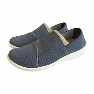 Cloud Steppers By Clarks Womens Size 7.5M Blue 16712 Slip On Casual Shoes