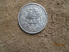 German  Empire ,Germany silver coin 1/2 mark,1918 XF