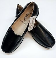 Ladies  Sally Leather lined Wedge Slip-On Loafer Shoe SLIP ON,WORK -Dr Keller B