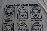 A Mustache Means Business Humor TEE T SHIRT XL Extra Large