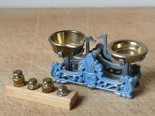 kleine Waage mit Gewichten Bodo Henning Puppenküche Zubehör Sammlungsauflösung