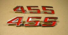 1967 1969 Pontiac Firebird Trunk Lid ' 455 ' Emblem Pair, Cft455R