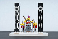 Lego Custom Rock & Roll Stage and Drum Set w/ Drummer - Made with Genuine Legos