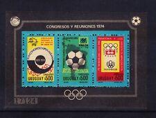 URUGUAY 1974 Michel block 21 Congress Reunions - unmounted mint. Cat 70 euros