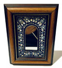 Vintage Painted Wood Ceramic Mirror Frame - Cercolon - Spain ( Pintado A Mano)