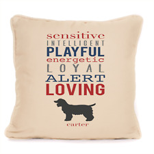 More details for gift for dog cocker spaniel gift personalised cushion present for dog lovers