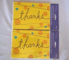 16 Gift Thank You Cards Note 2 Packs Of 8 Envelope Tender Thoughts Polka Dot Lot