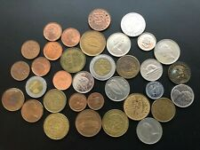 small lot of foreign coins and tokens as shown - lot as shown Canadian & other.