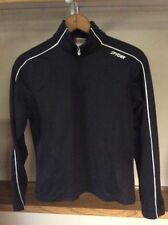 SPYDER Women's Size 6 Black W/ White 1/4 Zip Long Sleeve Athletic Pullover