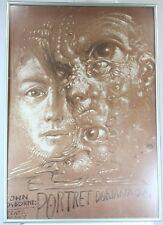 John Osborne Portret Doriana Graya Original Vintage Polish Lithograph Poster