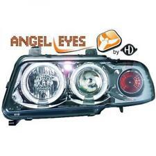 LHD Projector Headlights Pair Angel Eyes Clear Chrome H1 h1 For Audi A4 Avant