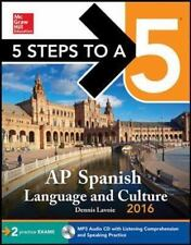 NEW - 5 Steps to a 5 AP Spanish Language and Culture 2016