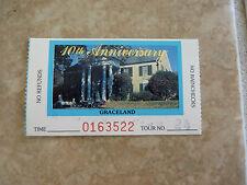 Graceland Elvis Presley 10th Anniversary Ticket Stub Tour