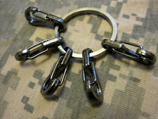 U.S. Seller 5Pcs EDC Snap Clip Hook Keychain with Key Ring