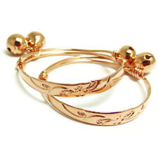Baby Set Anklet Bell Jewelry Unisex Baby Flower 22K 23K Thai Baht Rose Gold Gp