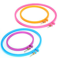 4Pcs Craft Color Frame Hoop Ring Hand Embroidery Cross Supplies Sewing Tool DIY
