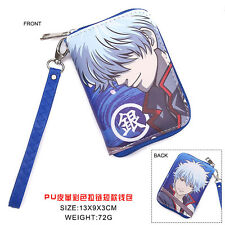 Hot Anime Gintama Cosplay PU Leather short Purse Wallet