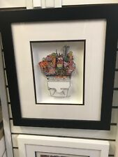 """Charles Fazzino 3D Artwork """"Chow Down in Chinatown"""" Signed & Numbered Deluxe Ed."""