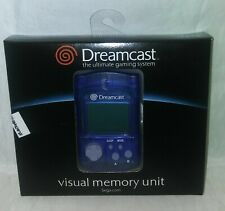 DreamCast    VMU    VISUAL MEMORY UNIT  (BLUE)    New In Box!!