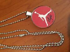 BALL CHAIN NECKLACE WITH BASKETBALL JORDAN FLIGHT CAP PENDANT  C269