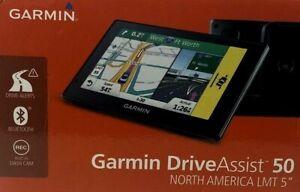 "GARMIN DriveAssist 50LMT+Built-In DASH CAM (LIFETIME NORTH AMERICA LMT 5"") GPS"