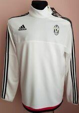 JUVENTUS TORINO ITALY  adidas Soccer Training Track Jacket GREY Zip LARGE WHITE