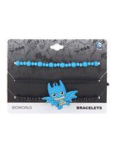 DC Comics Batman Chibi Bracelet Set Charm Logo Arm Party Wristband Set Blue NWT