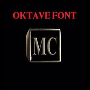 Solid Bronze MC Motorcycle Club Letter biker Ring Oktavefont Custom size