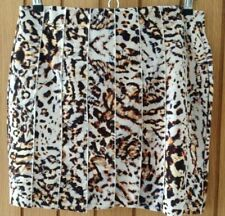 ZARA W&B Leopard Print Short Skirt Sz Large -  New with Tag - Mini Animal Fitted