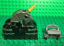 Lego New Castle Horse Barding,unicorn Helmet And Saddle Battle Armor Lot