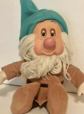 "Snow White Seven Dwarfs Sleepy Dwarf Plush Eyes Move Snores 12"" 1993 Mattel"
