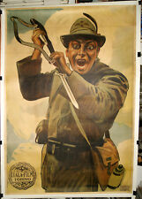 manifesto 4F film MACISTE ALPINO Bartolomeo Pagano ITALA 1916 METLICOVITZ art !