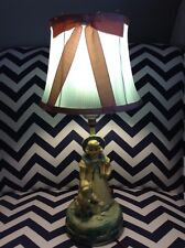 VINTAGE CHALK STYLE BITTLE BO BEEP LAMP WITH PAPER SHADE
