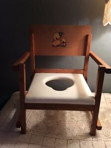 Hedstrom Vintage Potty Chair Wooden Folding Decoration Country Small Little duck