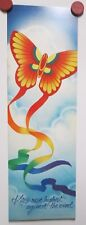 Vtg 1982 Hallmark Cards Motivational Poster Kites Rise Highest Against The Wind